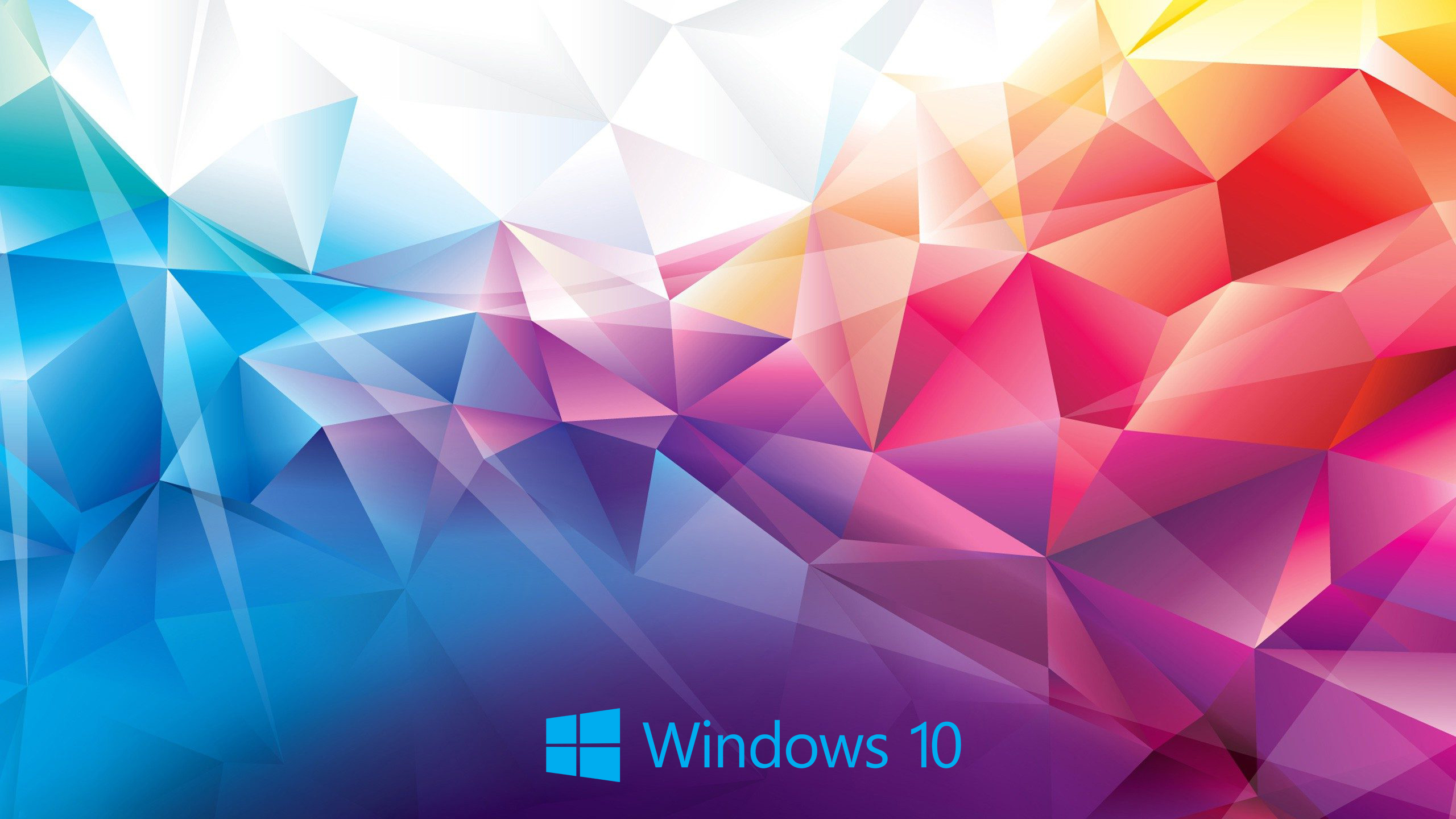 Windows 10 Wallpaper Abstract 3D Colorful Polygon - HD
