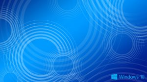 Windows 10 Wallpaper Blue Circles with Logo