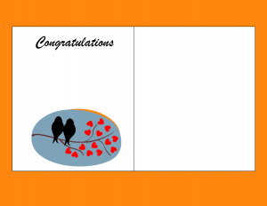 Congratulations Picture Frames Template