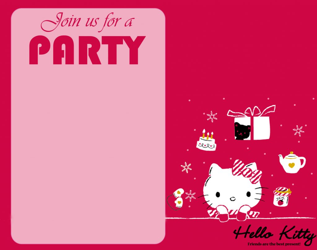 Free Hello Kitty Wallpaper For Party Invitation Card