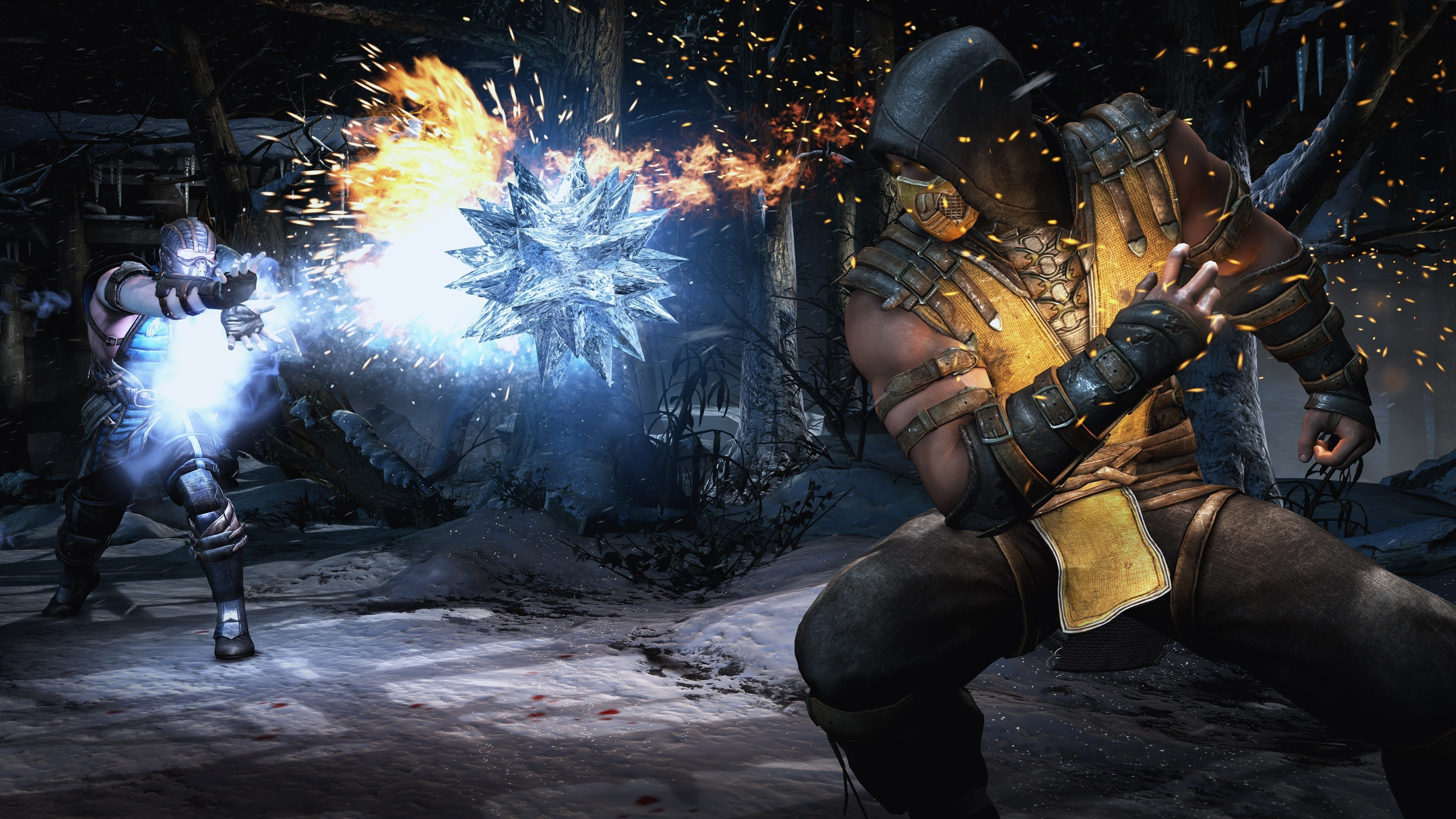 Pictures Of Scorpion From Mortal Kombat During Fighting
