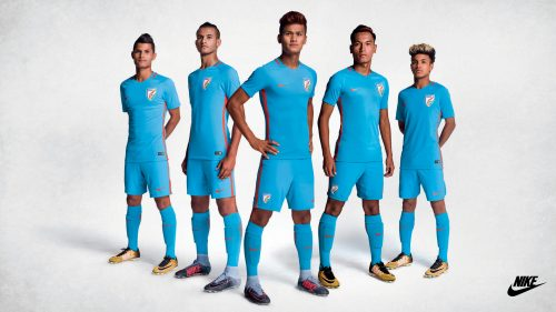 Nike Wallpaper with Indian New Football Kit Sets Blue Tigers