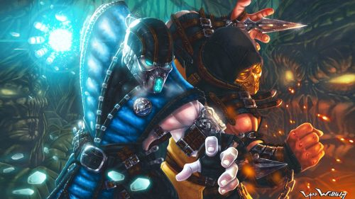 Scorpion Mortal Kombat Pictures by Lord Wilhelm - Scorpion VS Sub-Zero