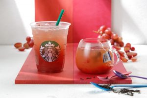 Cute Starbucks Wallpapers with Grapy Grape and Tea