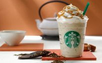 Cute Starbucks Wallpapers with Hojicha Crème Frappuccino