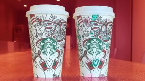 Cute Starbucks Wallpapers with Holiday Cups Close Up Photo
