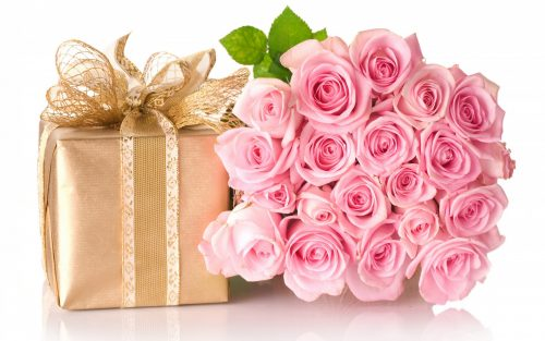 Happy Birthday HD Images With Rose Flowers and Gift