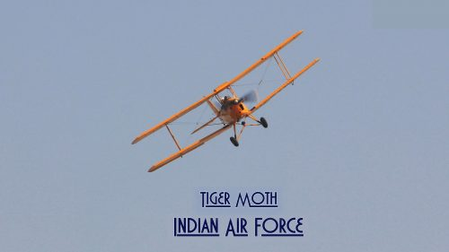 Indian Air Force Wallpaper with Picture of Tiger Moth Aircraft
