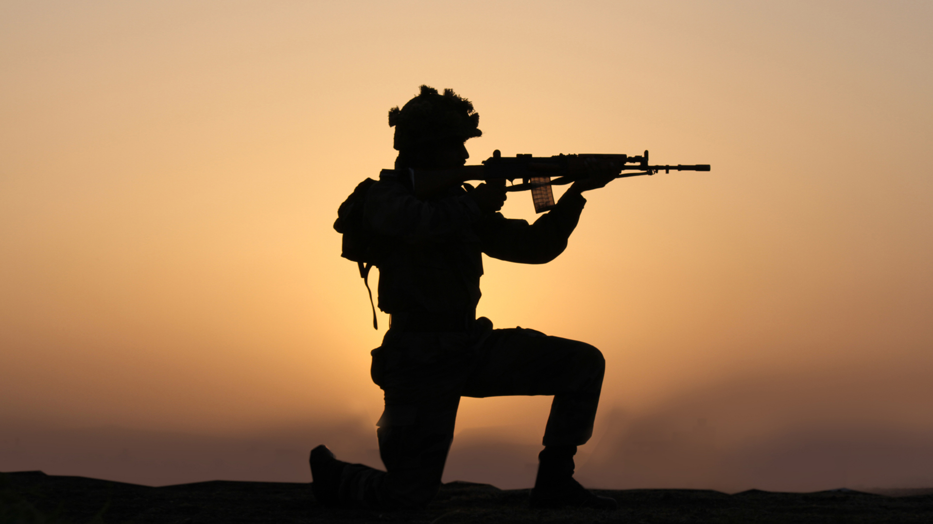 indian army wallpaper with soldier in silhouette hd