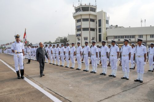 Indian Navy Wallpaper - Honourable President's Departure