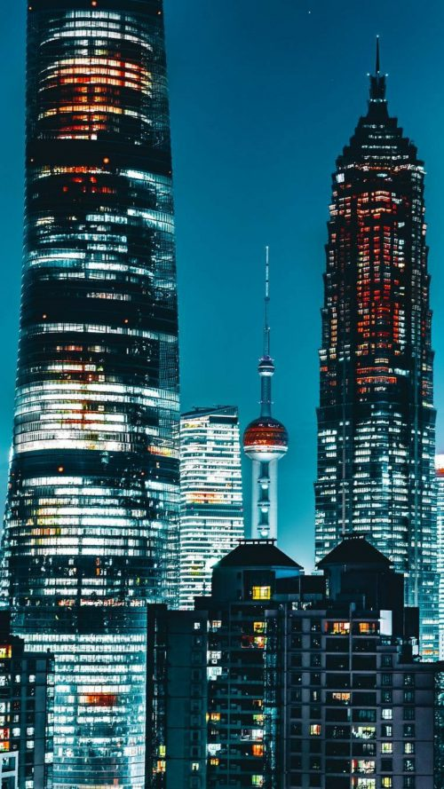 Mobile Phone Wallpaper for Xiaomi Mi A1 with Photo of City at Night