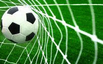 Pics of Soccer Ball on Net