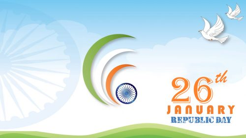 Republic Day Photo Download with Doves