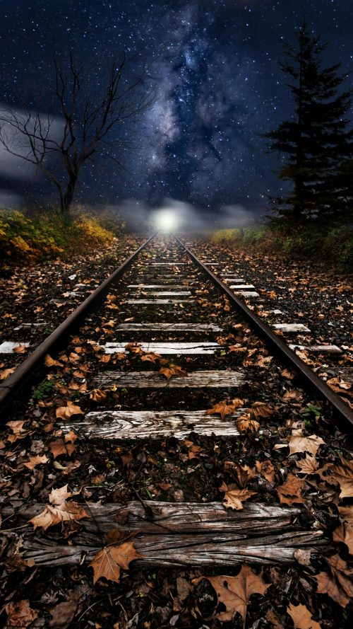 Xiaomi Redmi Note 4 Wallpaper with Artistic Picture of Old Railway