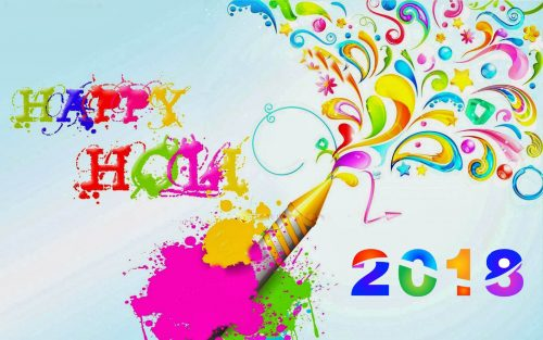 Colorful Abstract Happy Holi 2018 Wallpaper