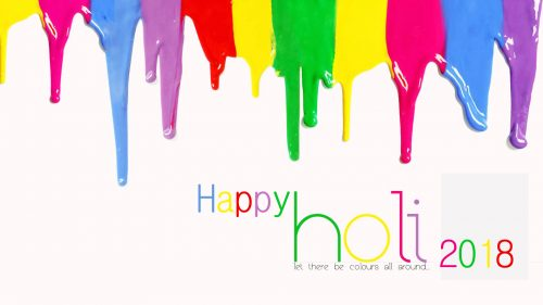 Colorful Background for Happy Holi 2018 Wallpaper