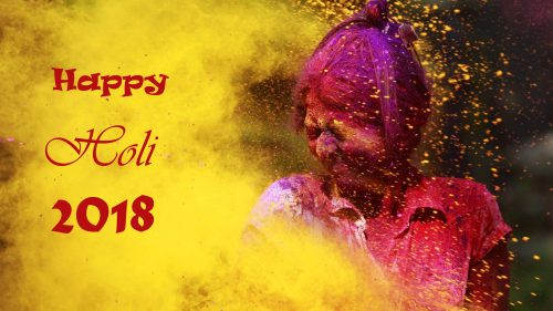 Greeting Card for Happy Holi 2018