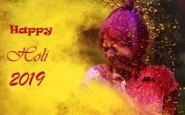Greeting Card for Happy Holi 2019