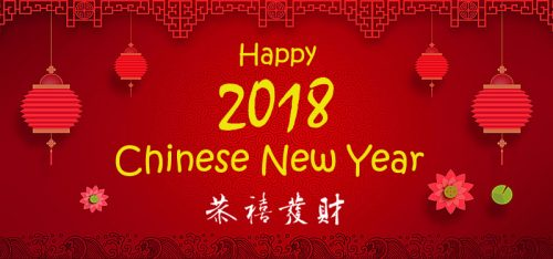 Happy 2018 Chinese New Year Wallpapers in Red Background
