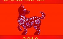 Happy Chinese New Year Wallpaper with Oriental Gold Border