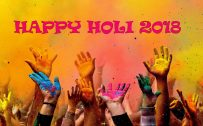 Happy Holi 2018 Background for Desktop Background