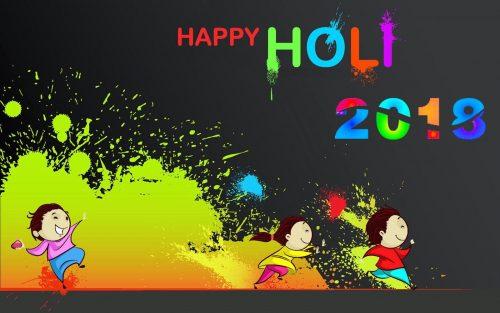 Happy Holi Wallpaper 2018 for Kids