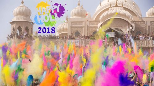 Holi 2018 Greetings Wallpaper in 4K