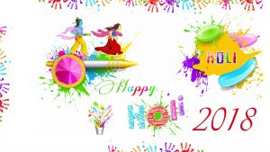Holi Wallpaper 2018 with Abstract Colorful Hands