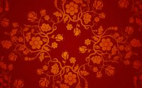 Red Chinese Wallpaper Designs 04 of 20 with Floral Pattern