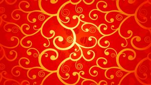 Red Chinese Wallpaper Designs 15 of 20 with Gold Floral Pattern