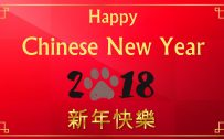 Red Colored Happy Chinese New Year Wallpaper for 2018