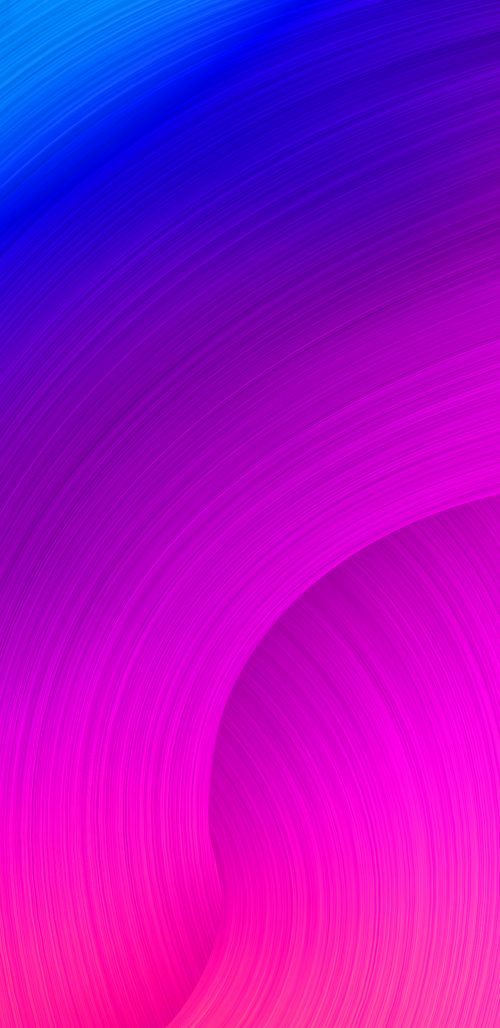 Samsung Galaxy S9 Background with Abstract Colorful Lines in Purple and Blue
