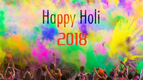 Simple Happy Holi Wallpaper for 2018