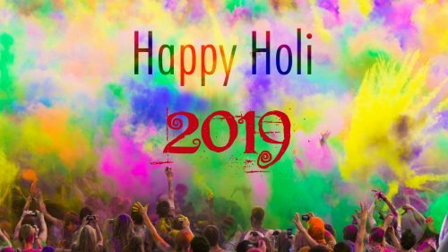 Simple Happy Holi Wallpaper for 2019