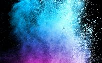 Abstract Colorful Powder with Dark Background for Samsung Galaxy S9 Series Wallpaper