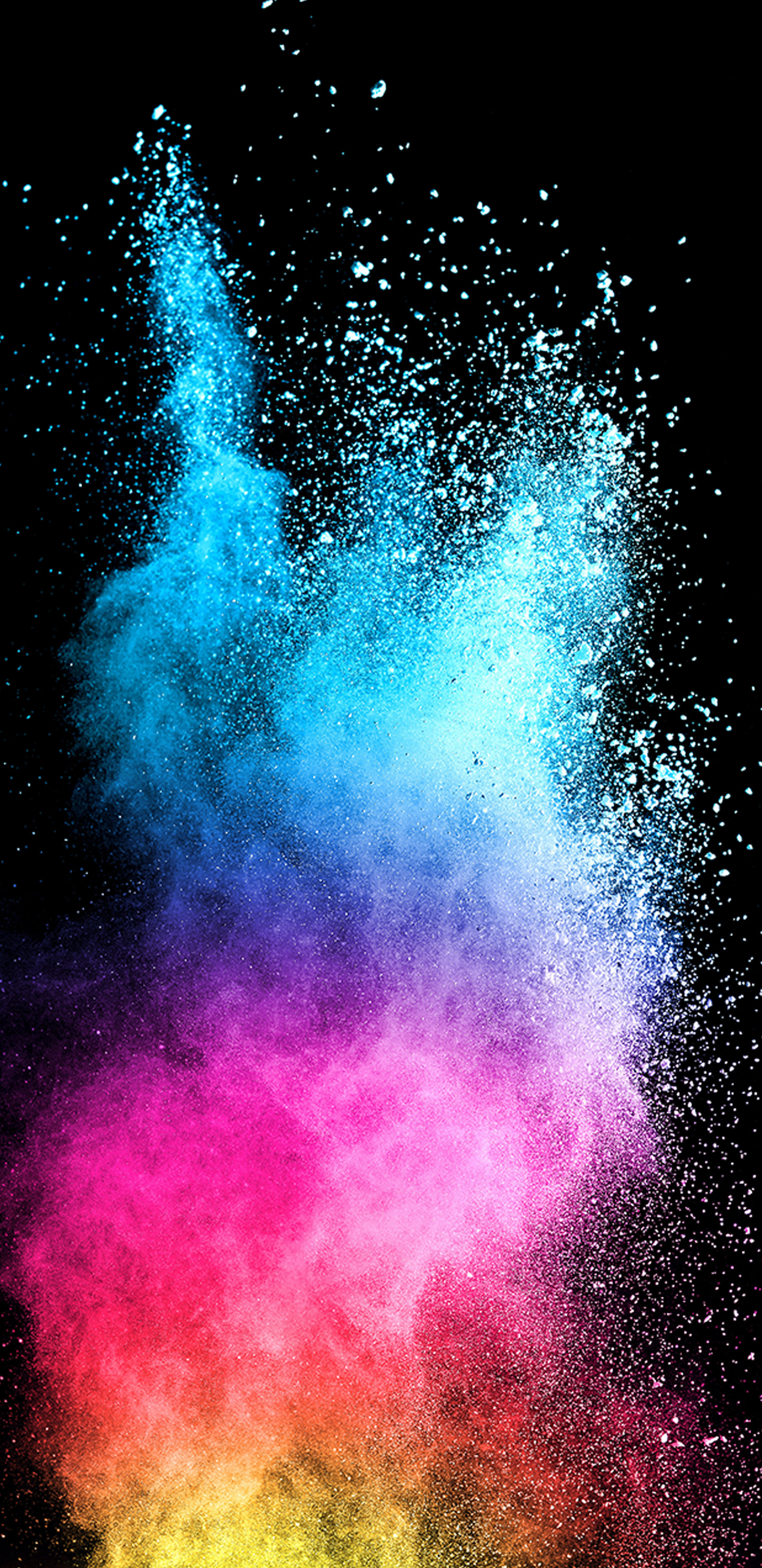 Wallpaper Samsung Galaxy S9: Abstract Colorful Powder With Dark Background For Samsung