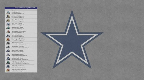 Dallas Cowboys Logo Wallpaper with 2018 Opponents Schedule
