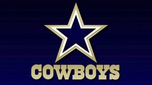 Dallas Cowboys Logo Wallpaper with Navy Blue Background