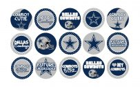 Dallas Cowboys Logo Wallpaper with Various Custom Pin