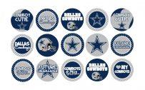 Dallas Cowboys Logo Wallpaper with Various Custom Pin