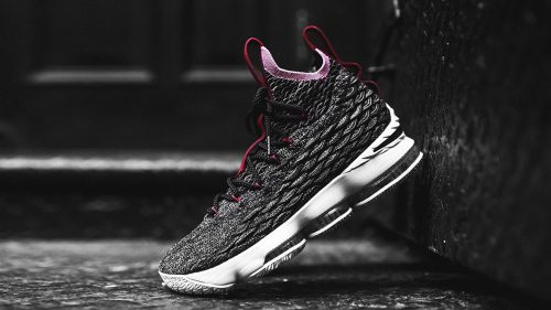 LeBron James Shoes Wallpaper with Nike LeBron 15 Black Wine Burgundy