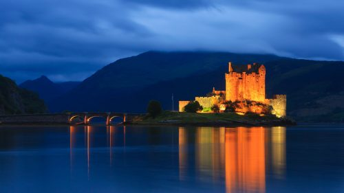 Natural Images HD 1080p Download with Eilean Donan Castle Long Exposure Photo
