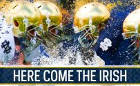 Notre Dame Fighting Irish Background in Gold and Blue