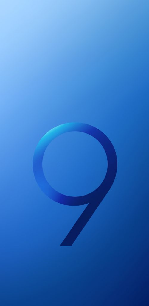 Official Wallpaper 01 of 15 for Samsung Galaxy S9 and Samsung Galaxy S9+ in Blue Color