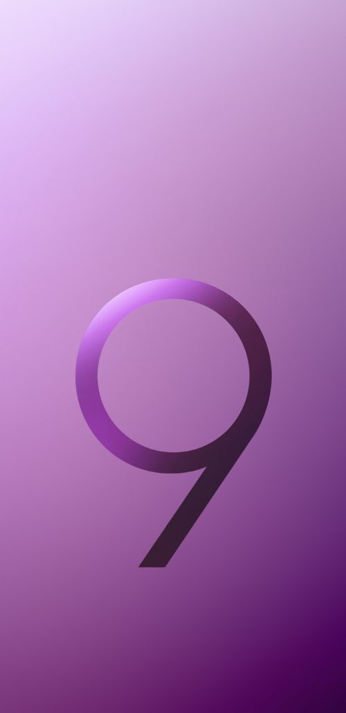 Official Wallpaper 02 of 15 for Samsung Galaxy S9 and Samsung Galaxy S9+ in Purple Color