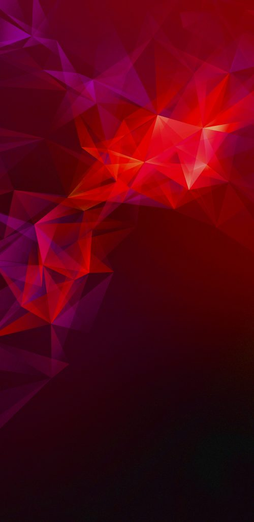 Official Wallpaper 08 of 15 for Samsung Galaxy S9 and Samsung Galaxy S9+ with Dark Red Polygons