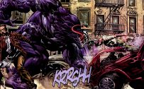 Venom Cartoon Character in Comic