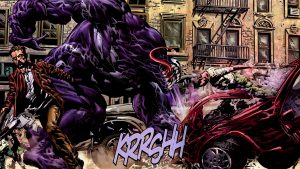 Venom Cartoon Character in Comic