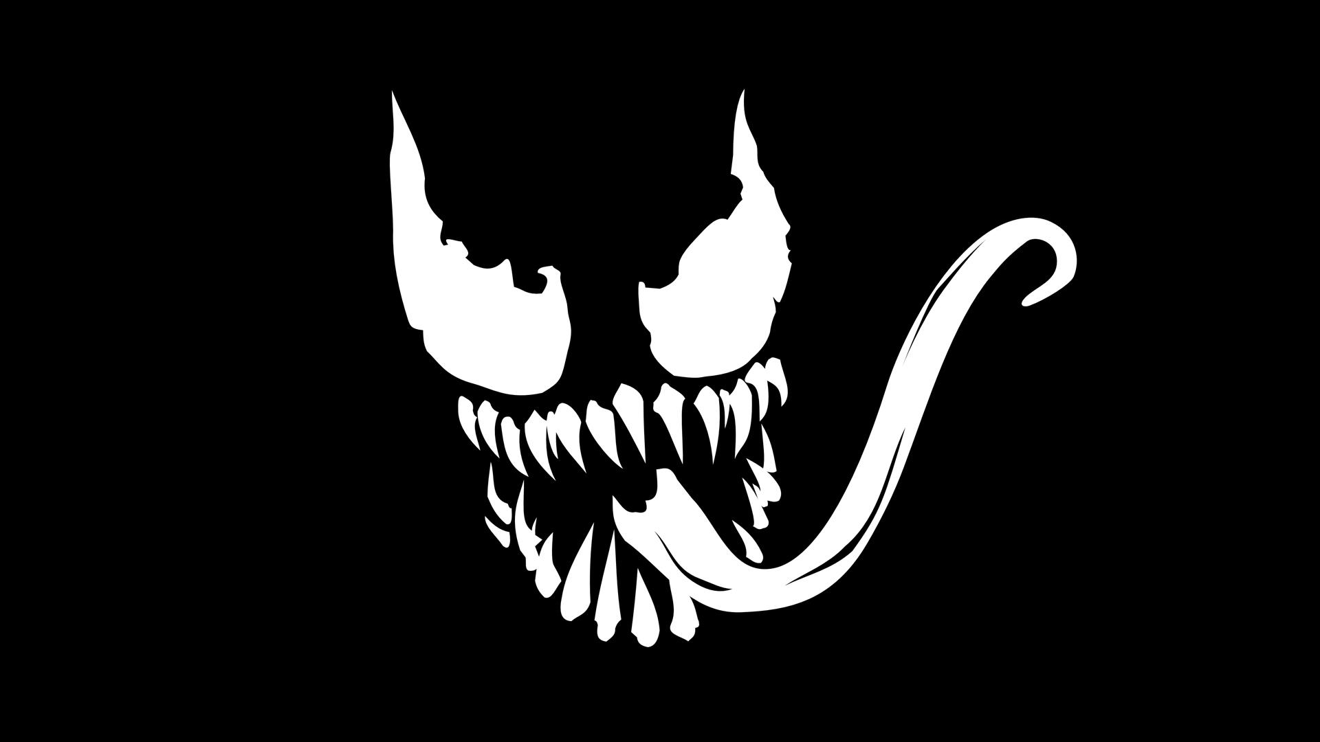venom marvel logo with dark background hd wallpapers