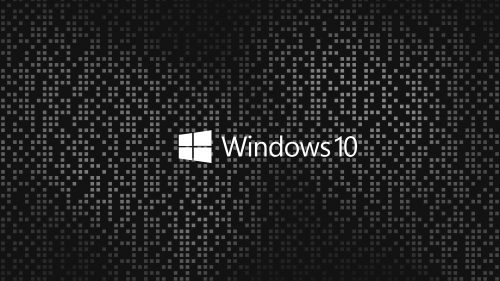 4K Black Wallpapers for Windows 10 – #09 of 10 – with Dark and Gray Mosaic Background
